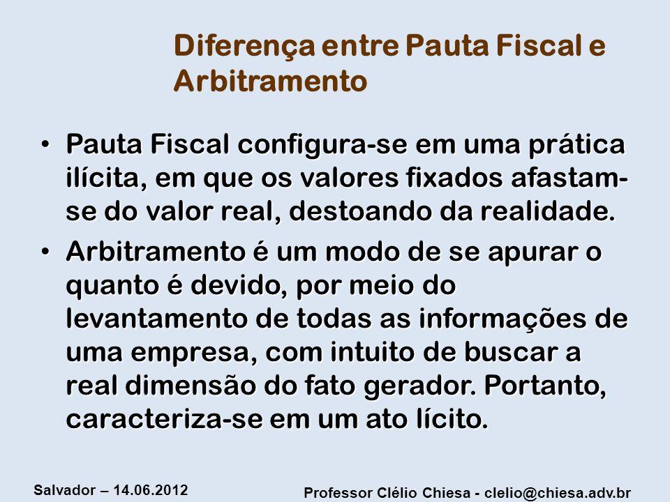 Diferença entre Pauta Fiscal e Arbitramento