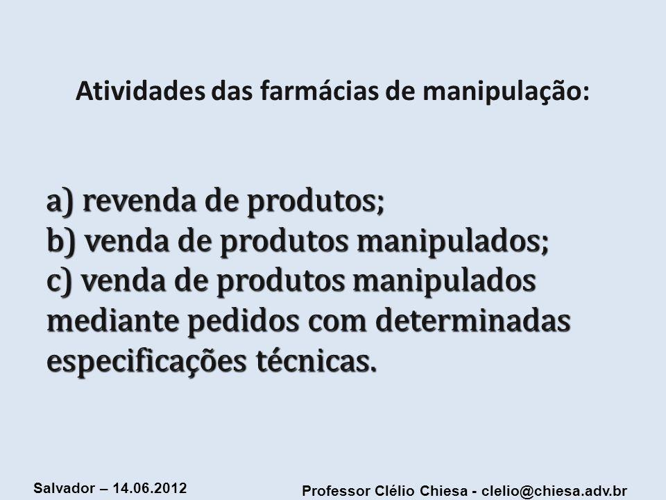 Atividades das farmácias de manipulação: