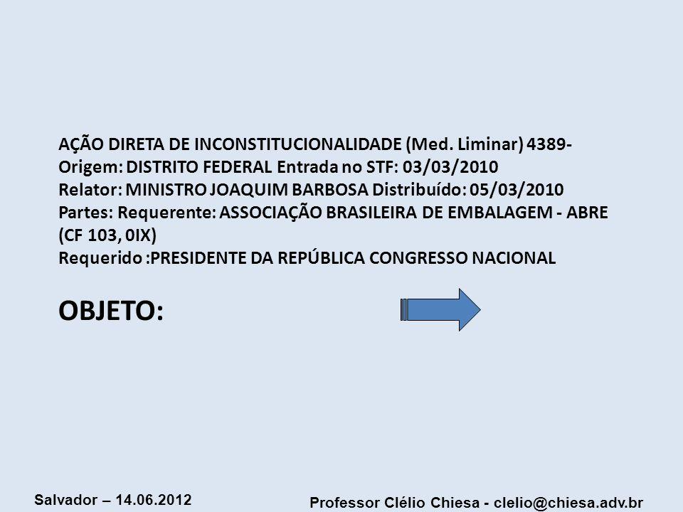 AÇÃO DIRETA DE INCONSTITUCIONALIDADE (Med