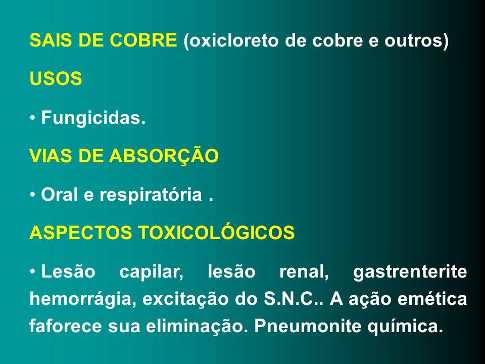 SAIS DE COBRE (oxicloreto de cobre e outros)