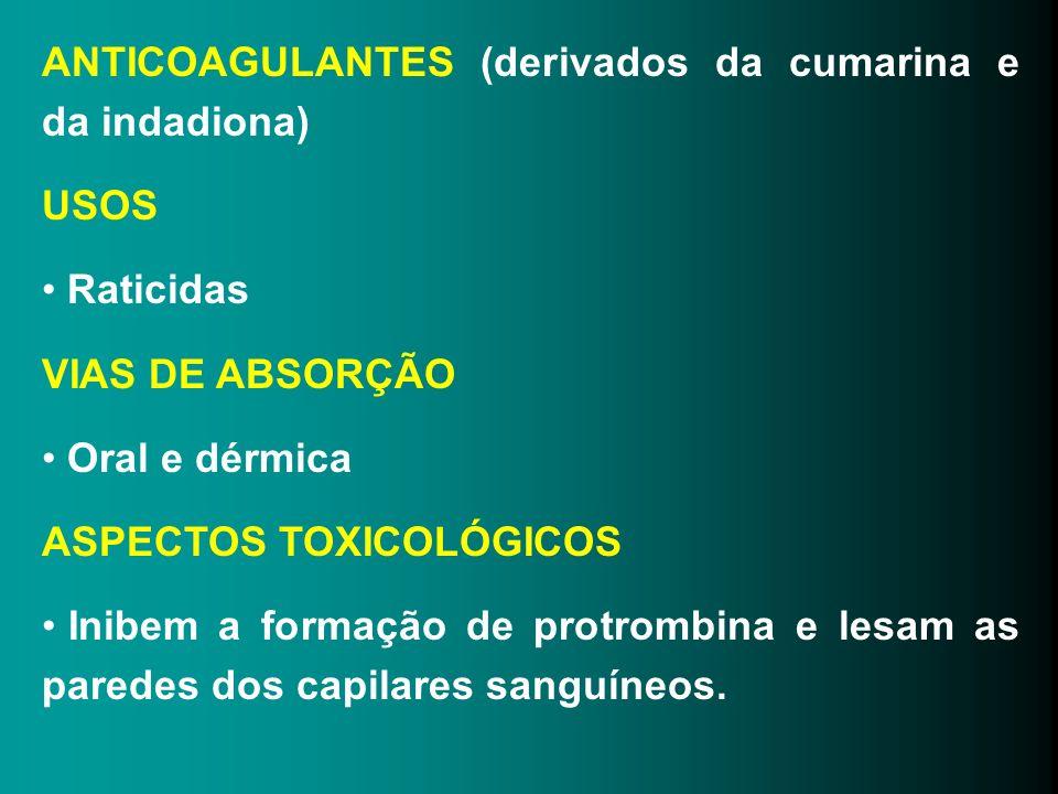 ANTICOAGULANTES (derivados da cumarina e da indadiona)