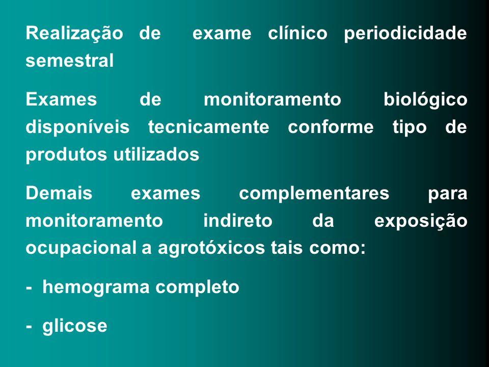 Realização de exame clínico periodicidade semestral