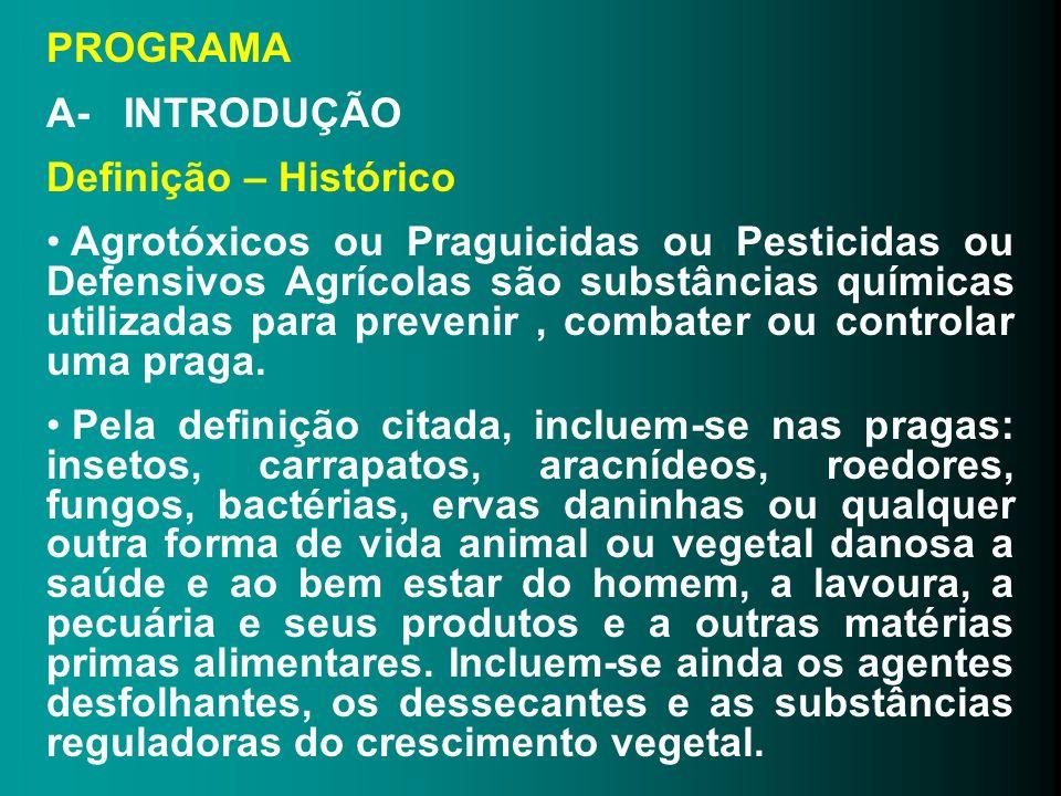 PROGRAMA A- INTRODUÇÃO. Definição – Histórico.
