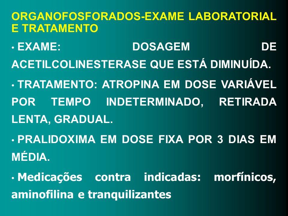 ORGANOFOSFORADOS-EXAME LABORATORIAL E TRATAMENTO
