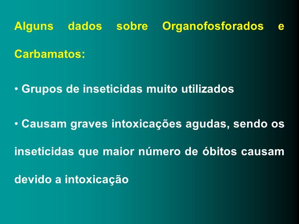 Alguns dados sobre Organofosforados e Carbamatos: