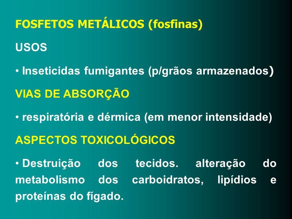 FOSFETOS METÁLICOS (fosfinas)