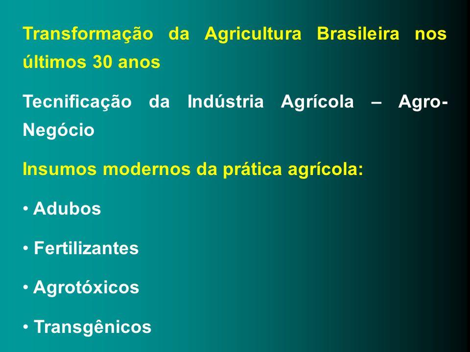 Transformação da Agricultura Brasileira nos últimos 30 anos