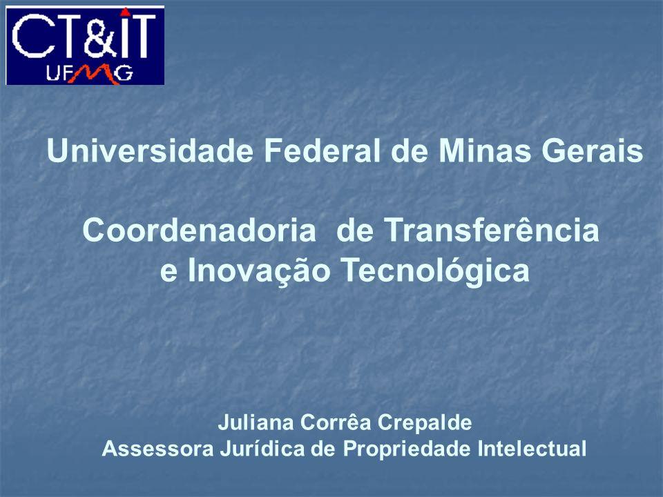 Universidade Federal de Minas Gerais Coordenadoria de Transferência