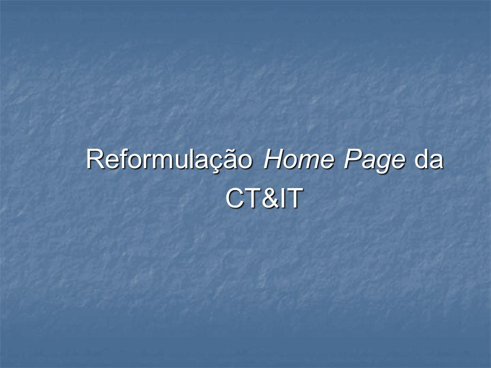 Reformulação Home Page da