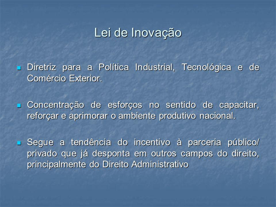 Lei de Inovação Diretriz para a Política Industrial, Tecnológica e de Comércio Exterior.