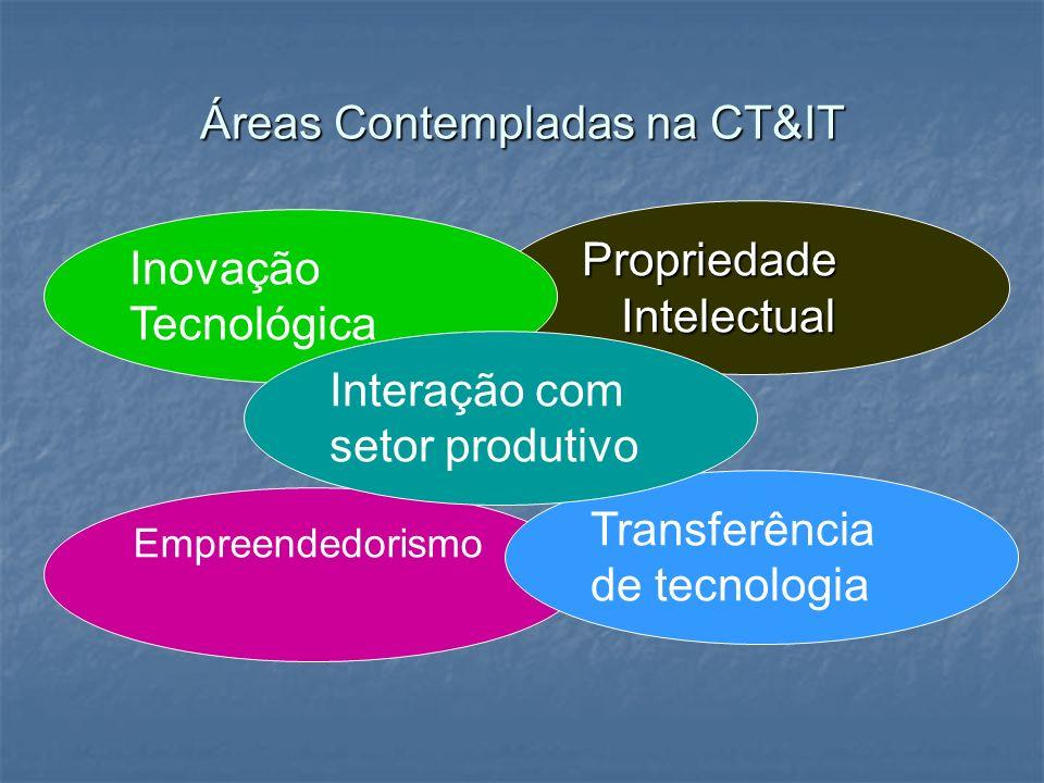 Áreas Contempladas na CT&IT
