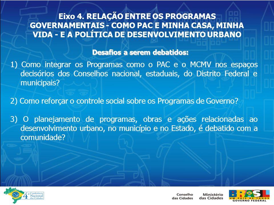 2) Como reforçar o controle social sobre os Programas de Governo