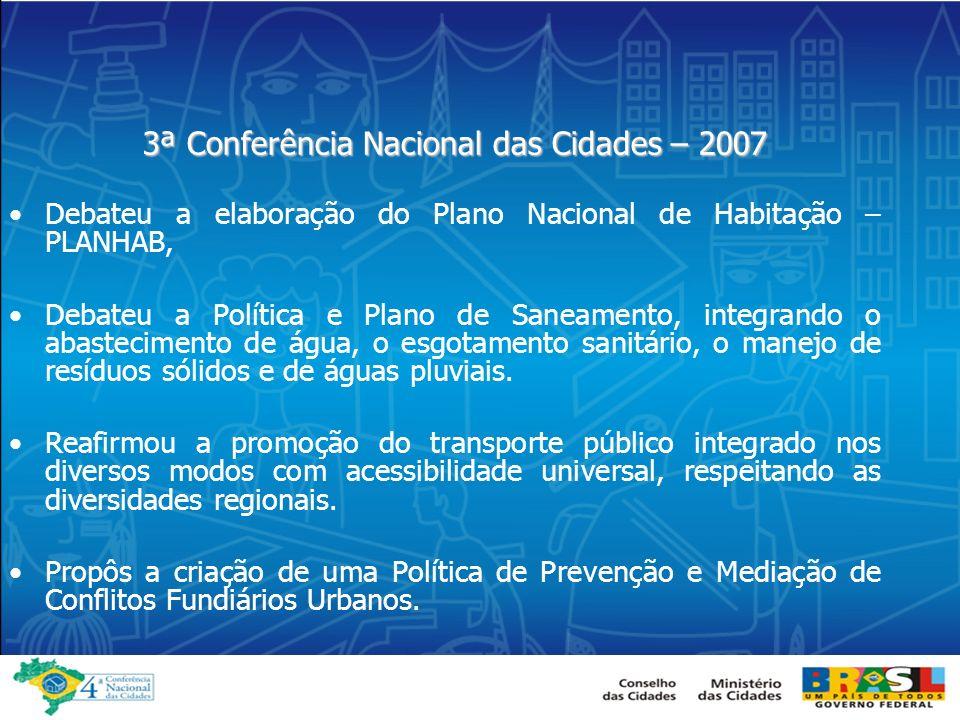 3ª Conferência Nacional das Cidades – 2007