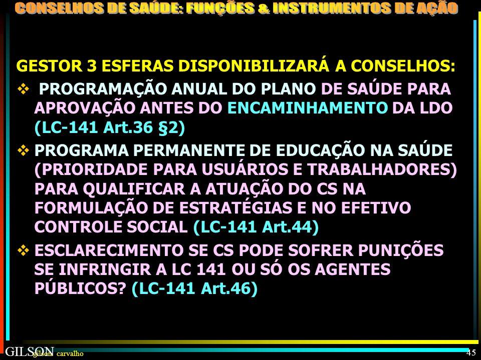 GESTOR 3 ESFERAS DISPONIBILIZARÁ A CONSELHOS: