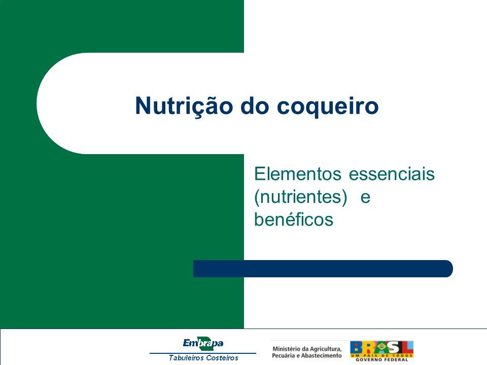 Elementos essenciais (nutrientes) e benéficos