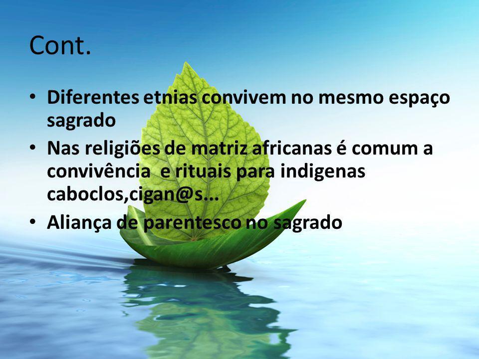 Cont. Diferentes etnias convivem no mesmo espaço sagrado