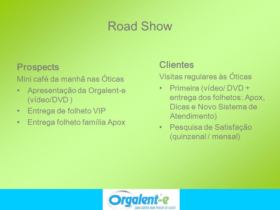 Road Show Clientes Prospects Visitas regulares às Óticas