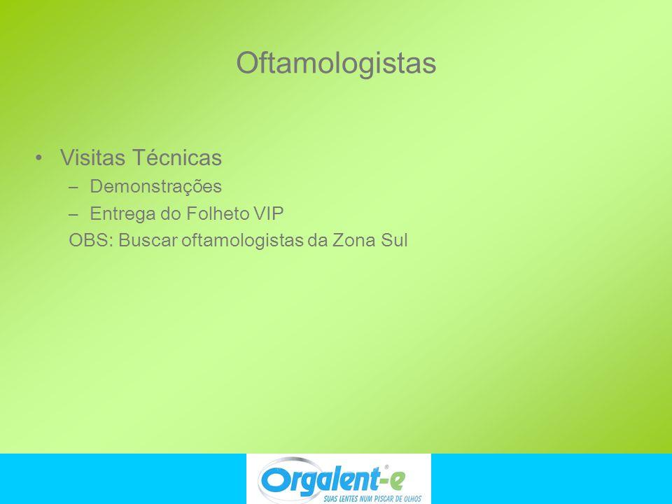 Oftamologistas Visitas Técnicas Demonstrações Entrega do Folheto VIP
