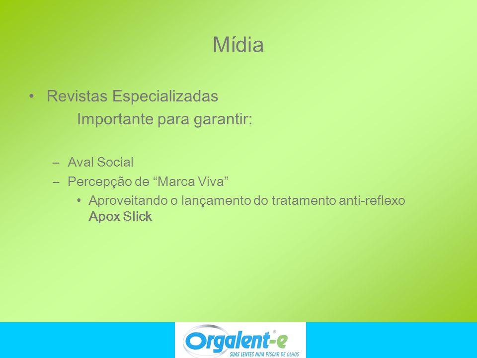 Mídia Revistas Especializadas Importante para garantir: Aval Social