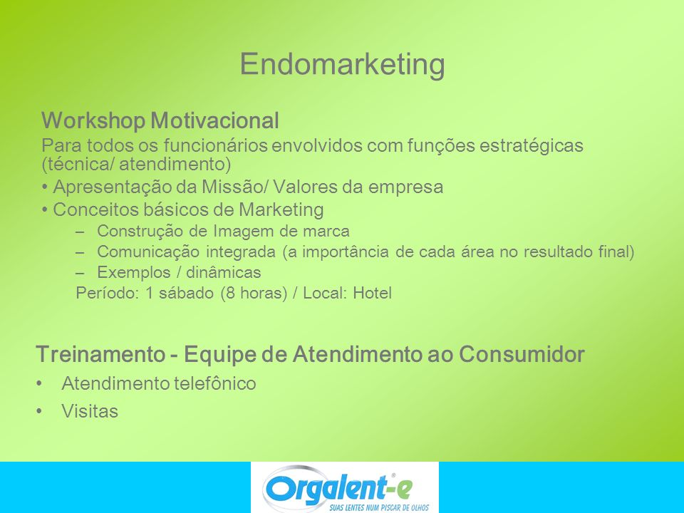 Endomarketing Workshop Motivacional