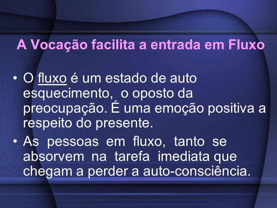 A Vocação facilita a entrada em Fluxo
