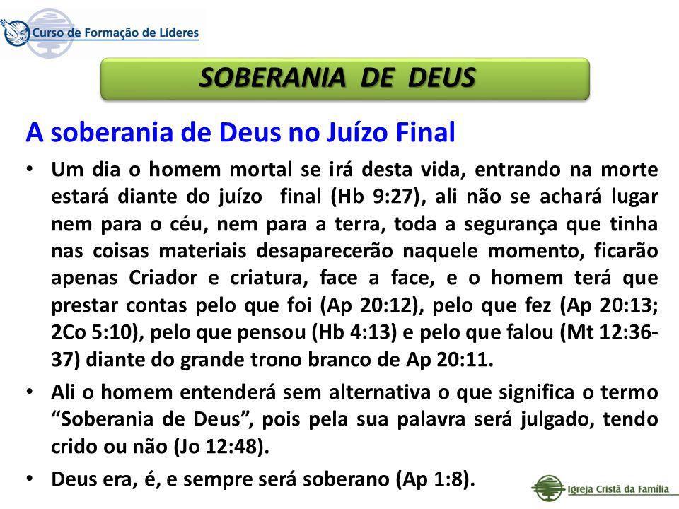 A soberania de Deus no Juízo Final