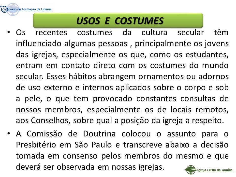 USOS E COSTUMES