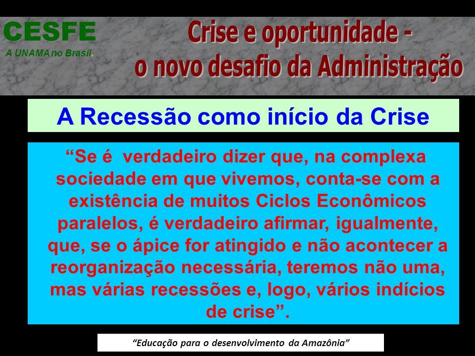 CESFE Crise e oportunidade - o novo desafio da Administração