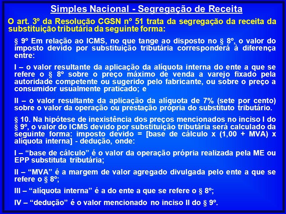 Simples Nacional - Segregação de Receita