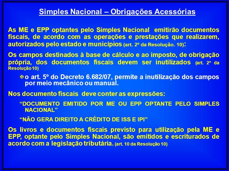 Simples Nacional – Obrigações Acessórias