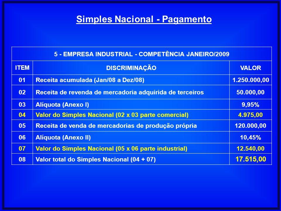 Simples Nacional - Pagamento