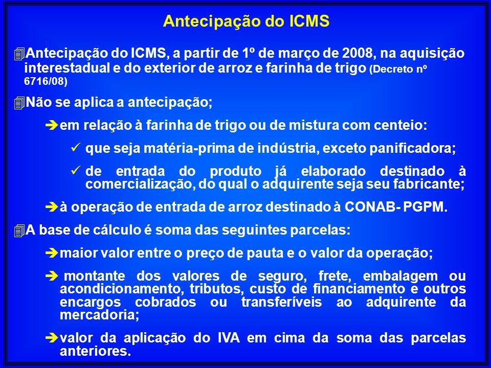 Antecipação do ICMS
