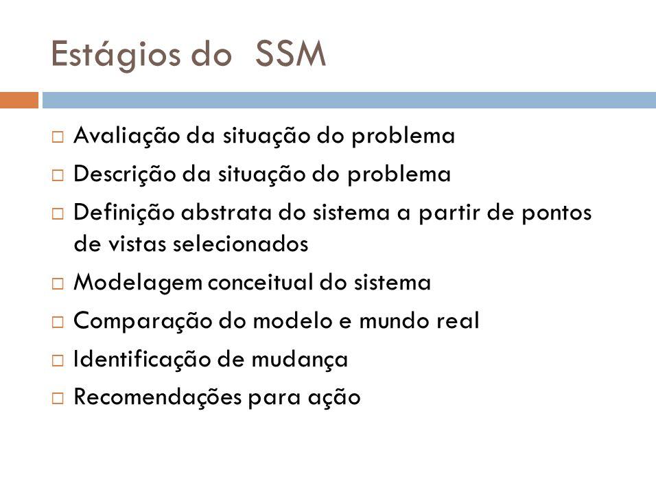 Estágios do SSM Avaliação da situação do problema