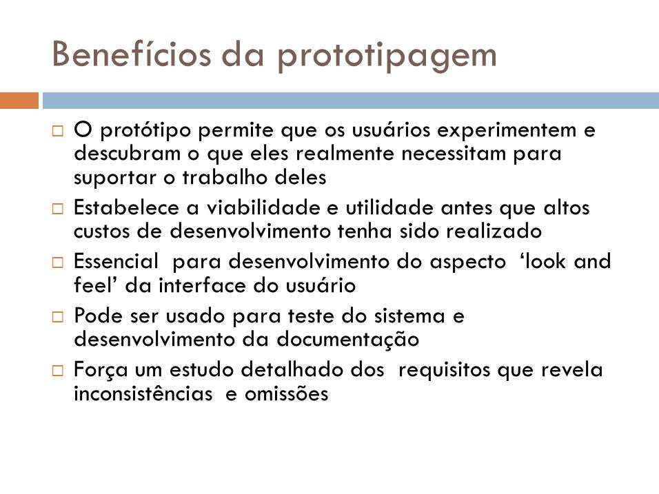 Benefícios da prototipagem
