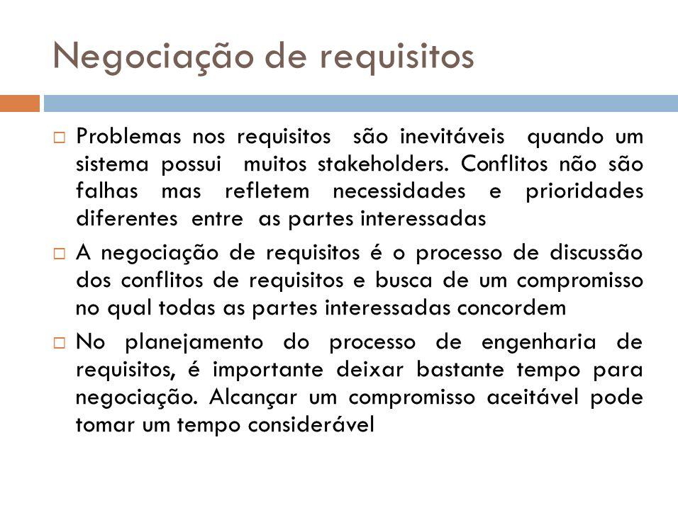 Negociação de requisitos