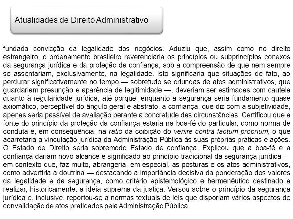 Atualidades de Direito Administrativo