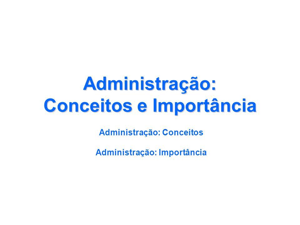 Administração: Conceitos e Importância
