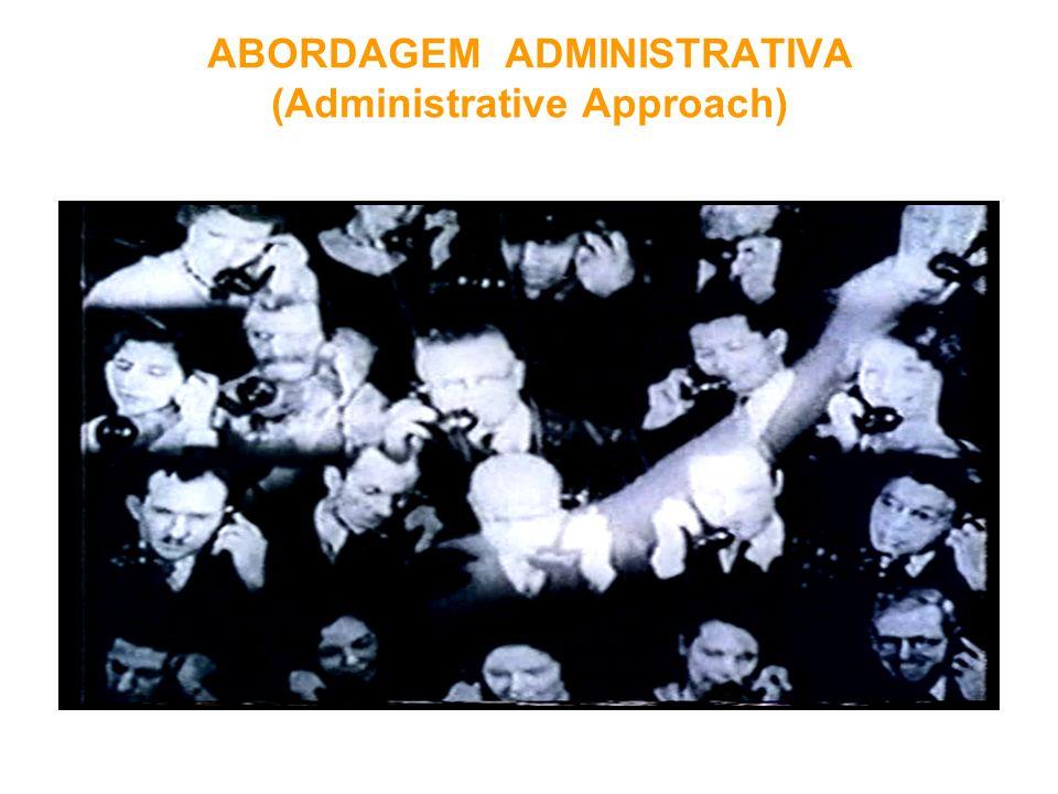 ABORDAGEM ADMINISTRATIVA (Administrative Approach)