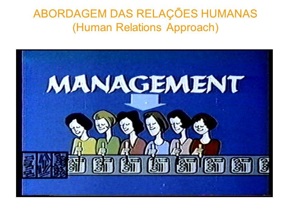ABORDAGEM DAS RELAÇÕES HUMANAS (Human Relations Approach)