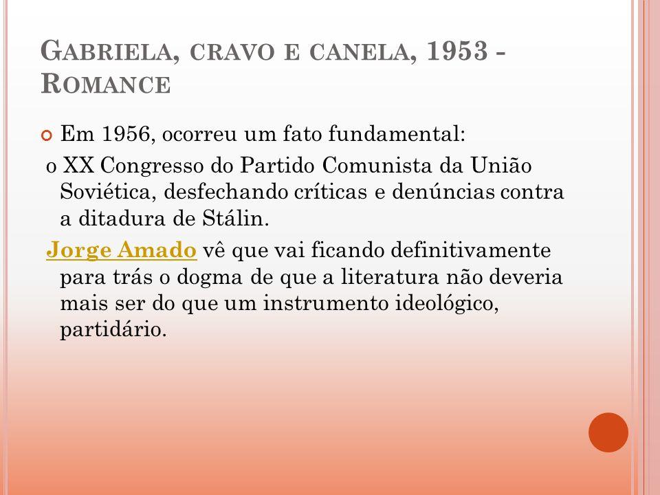 Gabriela, cravo e canela, 1953 - Romance