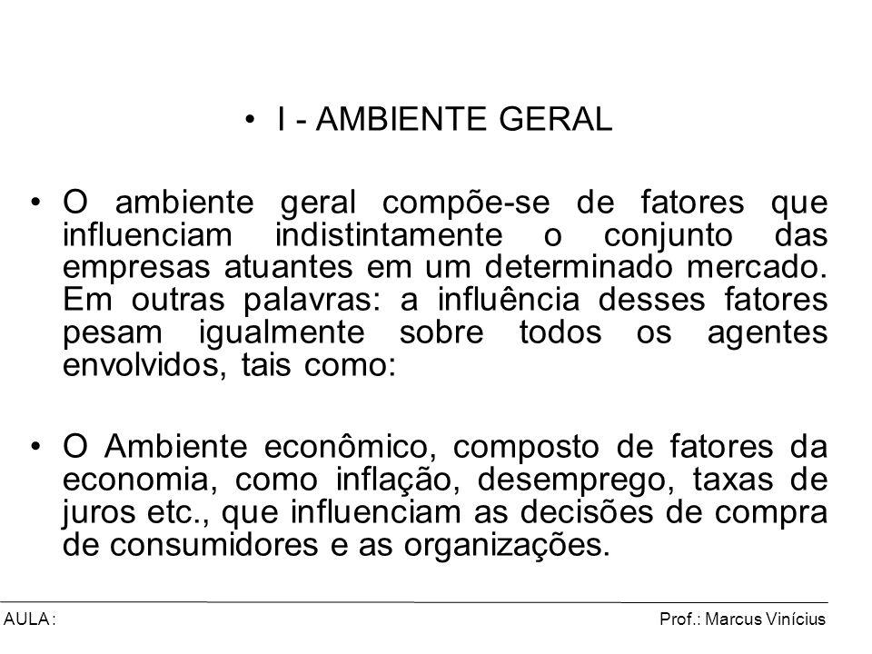 I - AMBIENTE GERAL