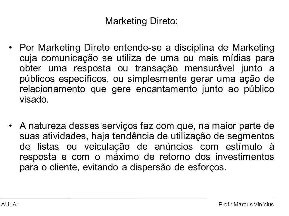 Marketing Direto: