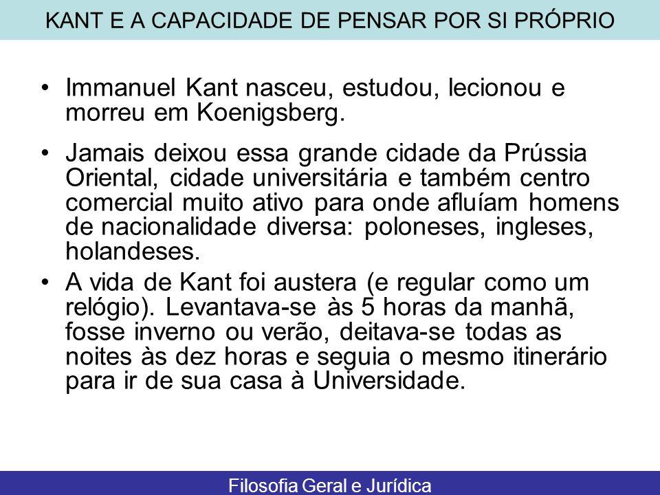 KANT E A CAPACIDADE DE PENSAR POR SI PRÓPRIO