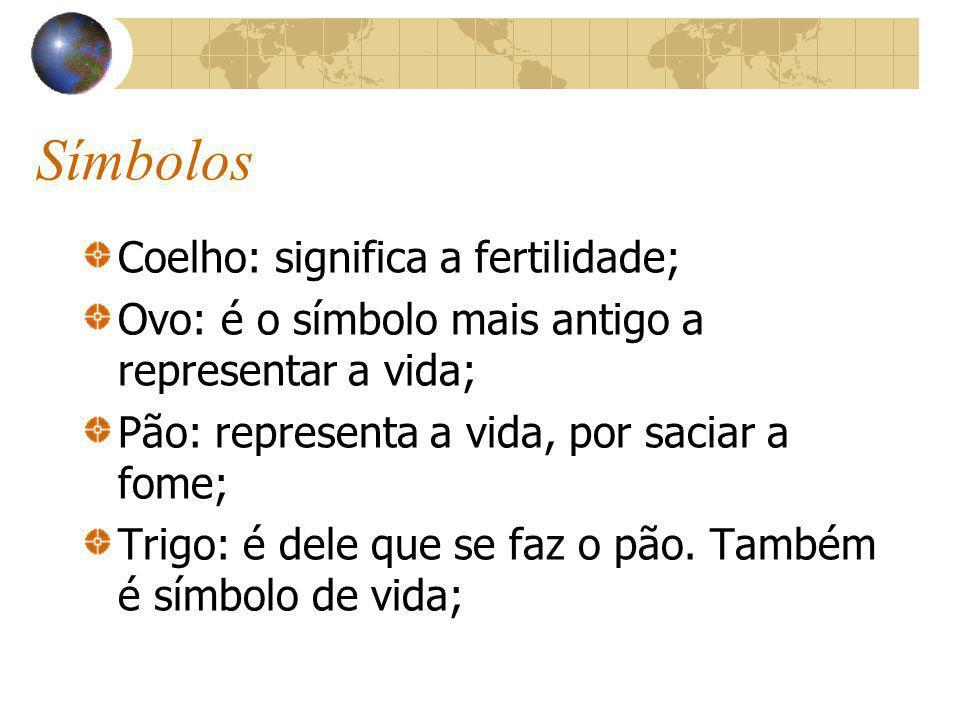 Símbolos Coelho: significa a fertilidade;