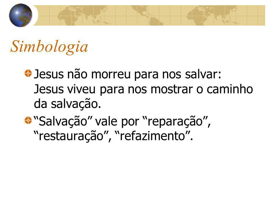 Simbologia Jesus não morreu para nos salvar: Jesus viveu para nos mostrar o caminho da salvação.