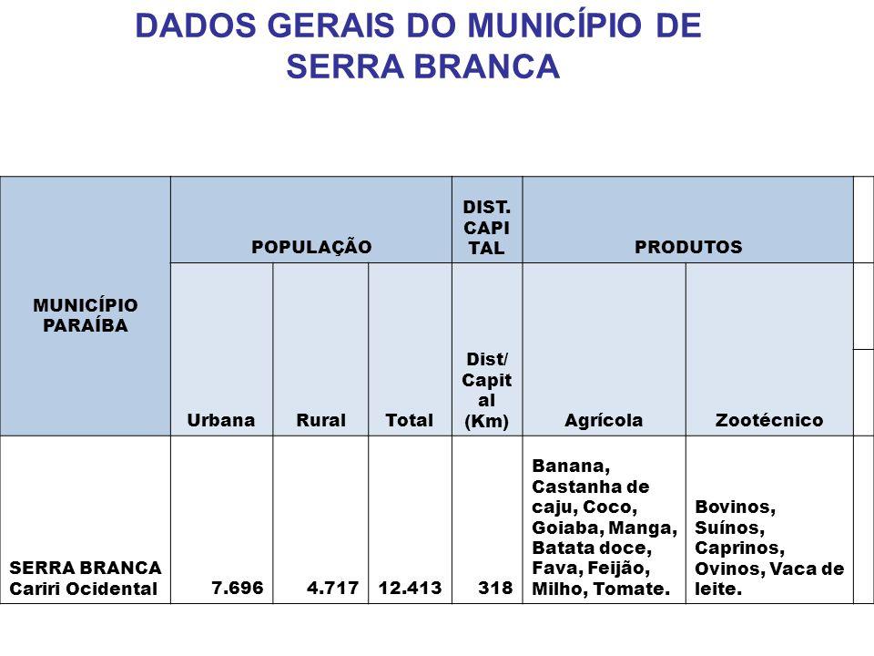 DADOS GERAIS DO MUNICÍPIO DE