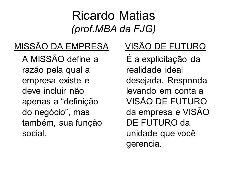 Ricardo Matias (prof.MBA da FJG)