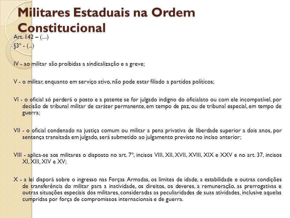 Militares Estaduais na Ordem Constitucional