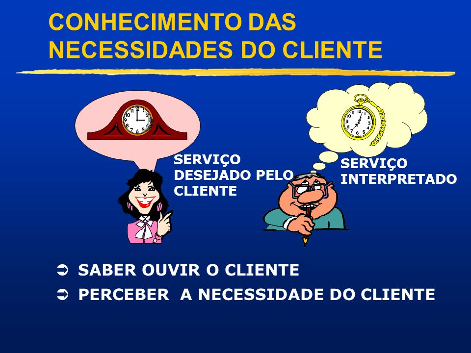 CONHECIMENTO DAS NECESSIDADES DO CLIENTE