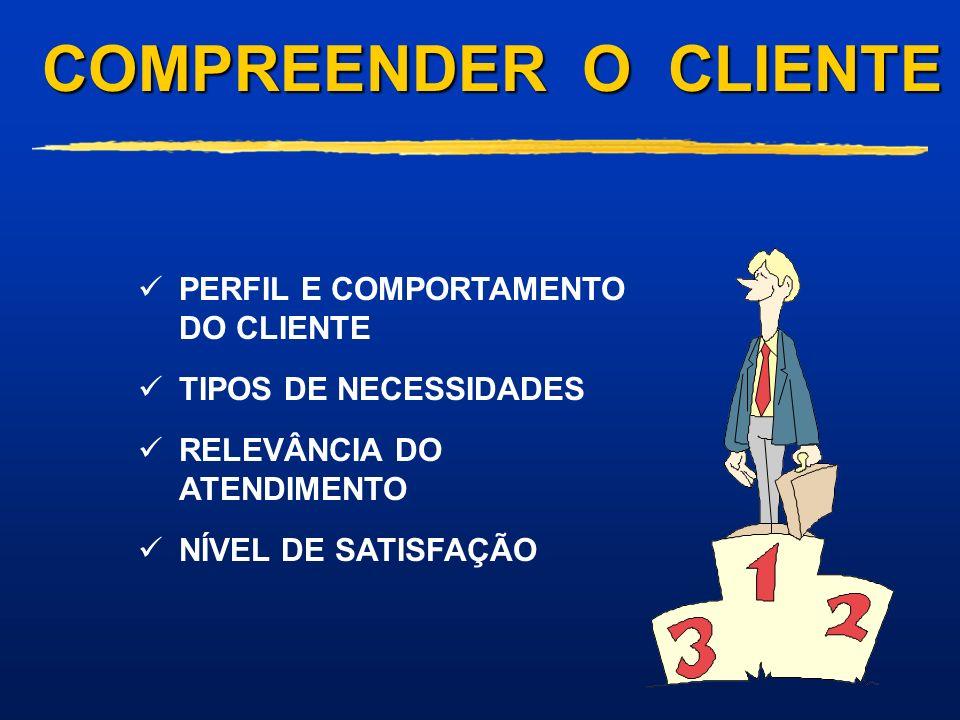 COMPREENDER O CLIENTE PERFIL E COMPORTAMENTO DO CLIENTE